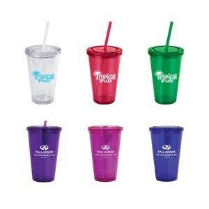 16oz. RUBY DOUBLE WALL ACRYLIC CUP